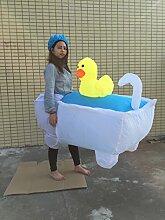 TlueTathtub Ostern Karneval 2016 Neue Kostüm Kostüm Halloween Aufblasbare Badewanne Heiß Verkaufen Tuch, Weiß, L, Aufblasbare Badewanne