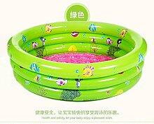 TlueTathtub Pvc Trinuclear Aufblasbare Pool Baby Schwimmbad Piscina Portable Outdoor Kinder Waschbecken Badewanne Sommer Spaß Spielzeug Sl 00301,150 X 30 Cm Grün