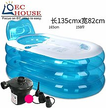 TlueTathtub Shu Kang Aufblasbare Whirlpool Verdickung Nach Falten Kunststoffeimer Dusche Badewanne Barrel Kostenloser Versand, Multi