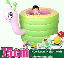 TlueTathtub Tragbare Aufblasbare Cartoon Baby Badewanne 0-4 Jahre Kinder Badewanne Waschbecken Falten Verdicken Kinder Kinder Wanne Baby Pool, Grün