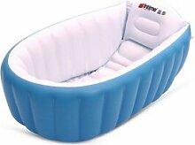 TlueTathtub Tronge Design Aufblasbare Babywanne Aufpumpen Badewanne Für Kleinkinder Kid Bewegbare Schwimmbad Neugeborene Kind Badewanne Sitz Stuhl, Blau