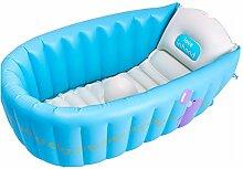 TlueTathtub Verkauf 1 Stück 90 * 55 * 30 Cm Baby Aufblasbare Badewanne, Kind Badewanne Wanne Neugeborenen Verdickung Klappbarer Wanne Trq 142, Blau