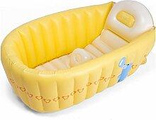 TlueTathtub Verkauf 1 Stück 90 * 55 * 30 Cm Baby Aufblasbare Badewanne, Kind Badewanne Wanne Neugeborenen Verdickung Klappbarer Wanne Trq 142, Gelb