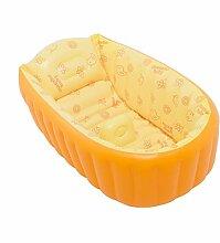 TlueTathtub Vilead 3 Farben Pvc-Portable Aufblasbare Baby Dusche Wanne Größe Baby Badewanne 35 X 18 Zoll Kreative Frische Baby Aufblasbare Whirlpool, Orange