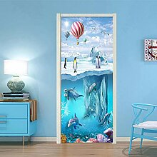 TMANQ 3D Tür Aufkleber Wandbild