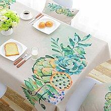TMRTCGY Baumwolle Tischdecke einfache Art-Rechteck