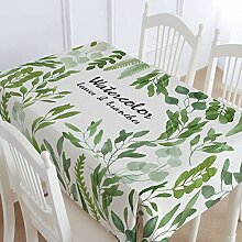 TMRTCGY Cotton Tischdecke Lemon Blume Rechteck