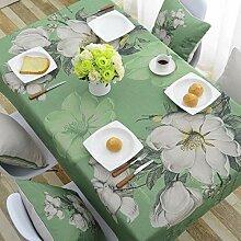 TMRTCGY Schöne Cotton Tischdecke einfach Rechteck