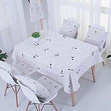 TMRTCGY Simple Style Cotton Tischdecke Rechteck