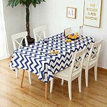 TMRTCGY Simple Style Cotton Tischdecke Wasserdicht
