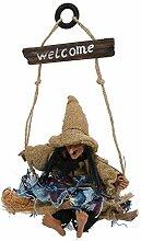 Tnfeeon Hängende Dekorationen der Halloween-Hexe,