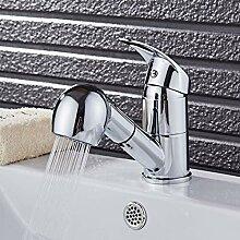 TNR® Wasserhahn Küchenarmatur Chrom Ausziehbarer