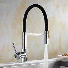 TNR® Wasserhahn Led Küchenarmatur Mit Gummi