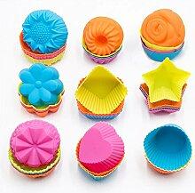 To encounter 24 Stück Silikon Donut Formen
