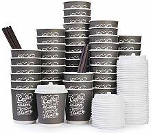 To Go Einweg-Kaffeebecher mit Deckel und