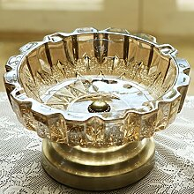 Toaryong Aschenbecher Glas Aschenbecher Kristall Tisch Wohnzimmer Dekoration, Glas Ascher