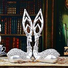 Toaryong Das Europäische Modell Wohnungseinrichtung Kreativ Wohnzimmer Dekoration Dekoration Dekoration Wein Hochzeit Geschenk, Ein Paar Silber