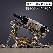Toaryong Das Wohnzimmer Schrank Dekoration Ausstattung Schmuck Kreative Hochzeit Geschenke Handwerk Europäische Swan Rotwild Eingang, Tl 179 - Meerjungfrau Wine Rack