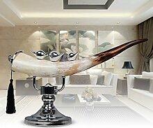 Toaryong Der Eingang Des Modernen Handwerks Ornamente Heimtextilien Schmuck Kreatives Modell Zimmer Soft Dekoration Wohnzimmer Einrichtung, Natürliche Hörner Ornamente