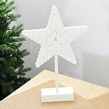 Toaryong Desktop Weihnachtsbaumbeleuchtungen Ornamente Star Night Licht Dekoration Led, Fünfzackigen Stern/200 G