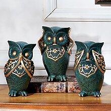 Toaryong Die Familie Wohnzimmer Dekoration Dekoration Kabinett Kreativ Zubehör Heimtextilien Eule Weichem Harz Handwerk