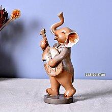 Toaryong Die Hochzeit Geschenk Kreative Dekorationen Kunsthandwerk Wein Heimtextilien Europäischen Elefant Wohnzimmer Tv-Schrank Häuser Wie Verzierungen, Gitarre