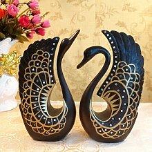 Toaryong Ein Paar Der Grossen Swan Harz Liebhaber Geschenke Hochzeit Geschenke Hochzeit Schmuck Tv-Schrank Schaufenster Dekoration