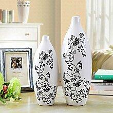 Toaryong Einfache Schwarze Und Weiße Blume Vase Heimtextilien Dekoration Wohnzimmer Dekoration Tv Cabinet Cabinet Keramik Kunst Geschenk, Große Weiße Kleine Shell