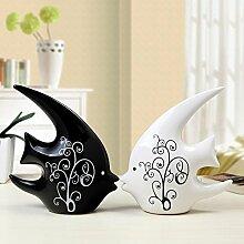 Toaryong Einfache Und Moderne Einrichtung Dekoration Wohnzimmer Heimtextilien Keramik Kunsthandwerk Möbel Mode Zeremonie, Schlucken Fisch Ein Paar