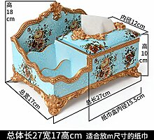 Toaryong Europäische Box Dekoration Kreative Wohnzimmer Dekoration Dekoration Basteln Amerikanischer Luxus Harz, Lanjin Drei Layer 4 Gitter Funktion