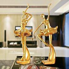 Toaryong Europäische Kreative Tänzerin Abbildung Dekoration Einrichtung Einrichtung Eingang Wohnzimmer Tv-Schrank Schrank Möbel Hochzeit Geschenk, Ein Paar Tänzer