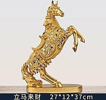 Toaryong Europäische Pferd Dekoration Handwerk Tv Cabinet Cabinet Einrichtung Büro Zhaocai Heimtextilien Studie Das Wohnzimmer Dekoration, Gold Kommt Auf Einmal