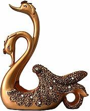 Toaryong Europäische Wine Rack Rack Wein Swan Ornamente In Die Wohnzimmer Home Möbel Handwerk Dekoration Hochzeit Geschenk, Neue Swan Wine Rack, Goldene Farbe Verzieren