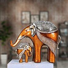 Toaryong Golden Elephant Schmuck Verzierungen Auf Eine Wohnungseinrichtung Lucky Elephant Harz Handwerk Dekoration Dekoration, B Mutter Und Kind Elefanten
