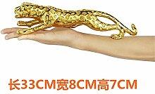 Toaryong Großes Vermögen Leopard Dekoration Dekoration Handwerk Geschenk Kreative Europäische Einrichtung Eröffnet Das Wohnzimmer Fernseher Schrank Dekoration, 33 Cm (Gold)