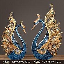 Toaryong Heimtextilien Dekoration Dekoration Dekoration Wohnzimmer Tv Cabinet Cabinet Schwan, Eine Der 198 Blau