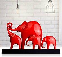 Toaryong Heimtextilien Möbel Einfache Moderne Einrichtung Häuser Wie Das Wohnzimmer Tv-Schrank Weichen Dekoration Dekoration, Familie Von Vier (Rot)