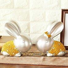 Toaryong Hochzeit Geschenk Geschenke Kreativ Wohnzimmer Dekoration Bestie Kaninchen Heimtextilien Schmuck Basteln, Golden