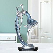 Toaryong Im Europäischen Stil Wohnzimmer Tv-Schrank Dekoration Goldene Heimtextilien Kreative Werke Der Kunst Anzeige Abstrakte Zeichen Zeremonie, Blaue Tänzerin