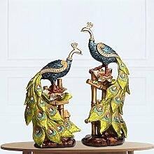 Toaryong Kreative Europäische Wein Dekor Schmuck Schmuck Handwerk Vase Heimtextilien Peacock Neue Tv-Schrank Dekoration, Ein Pfau Auf Eine Glücklich Verheiratete Paar
