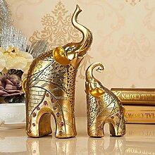 Toaryong Lucky Dekoration Luxus Im Europäischen Stil Wohnzimmer Tv Schrank Auf Der Elefant Kunsthandwerk Geschenk Heimtextilien Dekoration Dekoration, Ein Paar Golden Ears (Promotions)