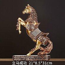 Toaryong Lucky Horse Home Einrichtung Im Europäischen Stil Wohnzimmer Dekoration Dekoration Dekoration Kreative Studie Tv-Schrank Schrank Dekoration Basteln, Bronzefarbene Münzen Kommen Sie Sofor