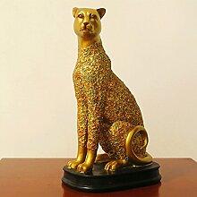 Toaryong Lucky Leopard Ornamente Soft Dekoration Dekoration Basteln Club Thai Restauran