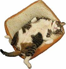 Toast Brot Kissen, goodchanceuk Vivid Matratze für Katzen und kleine Hunde Weiches Warmes Pet Sleeper Matte, 23.62