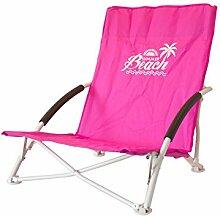 ToCi Strandstuhl klappbar leicht kleines packmaß mit Transporttasche in 4 Farben, Farbe:Pink