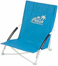 ToCi Strandstuhl klappbar leicht kleines packmaß mit Transporttasche in 4 Farben, Farbe:Blau