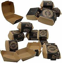 ToCis Big BBQ 24 Stück Hamburger-Boxen aus Pappe