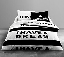 Today 013073 Bettwäsche Enjoy I Have A Dream 100% Baumwolle – 1 Bettbezug 220 x 240 cm + 2 Kissenbezüge 63 x 63 cm
