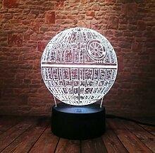 Todesstern 3D Led Nachtlicht Energiesparende Licht