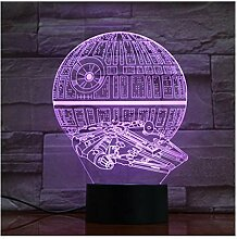 Todesstern Falcon Lampe 7 Farben 3D LED Lichter